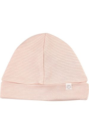 Mori Kids - Blush Stripe Organic Beanie - Unisex - 0-3 months - - Light weight beanies