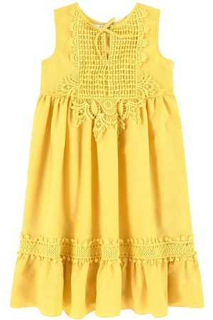 Mayoral Girls Casual Dresses - Embroidered Dress Mustard - Girl - 3 years - - Casual dresses