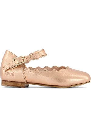 Chloé Girls Ballerinas - Kids - Copper Ballerina Leather Shoes - Girl - 25 (UK 8) - - Ballerinas and pumps