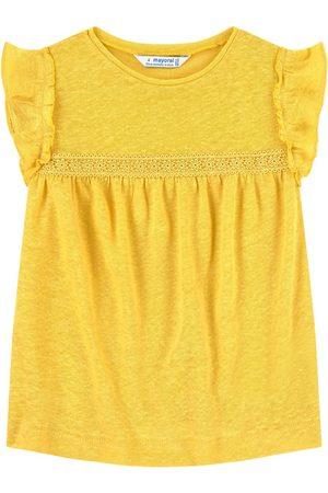 Mayoral Girls Blouses - Mustard Ruffle Top - Girl - 3 years - - Blouses