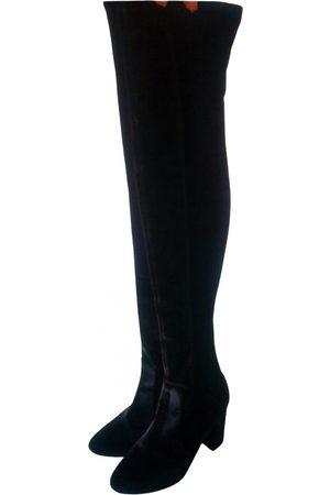 Aquazzura Women Boots - Night Fever Velvet Boots for Women