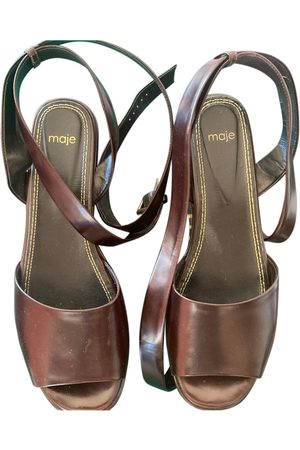 Maje \N Leather Mules & Clogs for Women