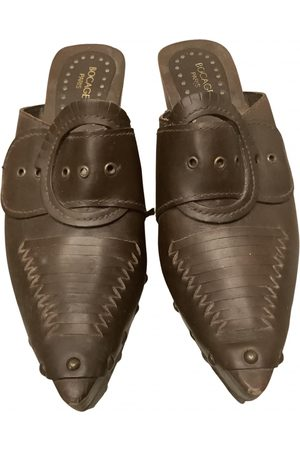BOCAGE \N Leather Mules & Clogs for Women