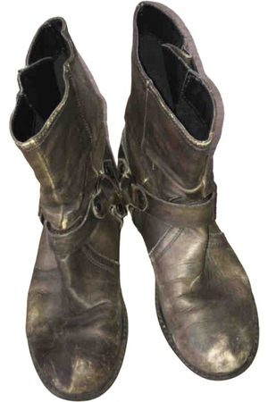 TEXTO \N Leather Ankle boots for Women