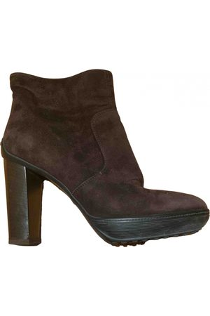 Tod's Women Ankle Boots - \N Suede Ankle boots for Women