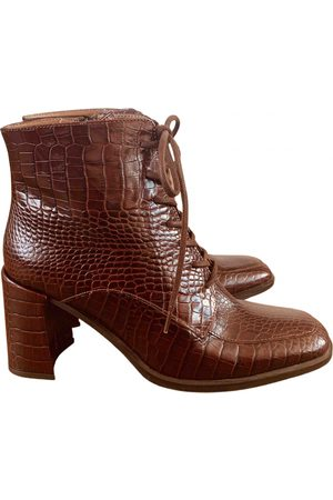 Miista \N Leather Ankle boots for Women