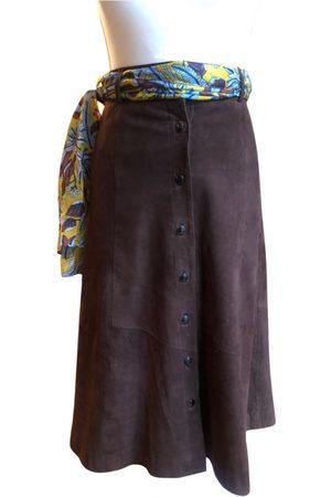 Sézane Spring Summer 2019 Suede Skirt for Women
