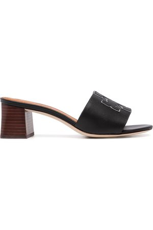 Tory Burch Ines logo-patch sandals