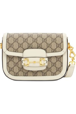 Gucci 1955 Horsebit Gg Canvas Shoulder Bag