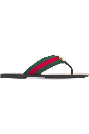 Gucci 10mm Gg Web Thong Sandals
