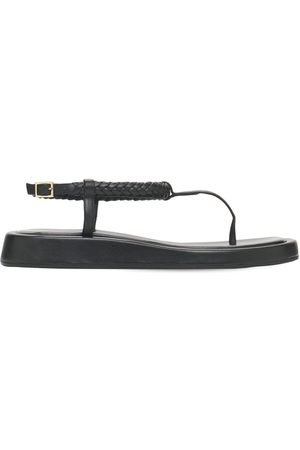 GIA X RHW Women Sandals - 20mm Rosie 3 Leather Thong Sandals