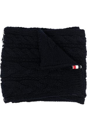 Thom Browne Men Scarves - Cable-knit scarf - Grey