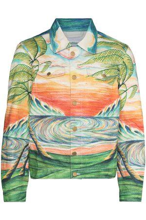 Casablanca Huakai print denim jacket