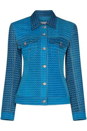 Marine Serre Moonfish button-up denim jacket