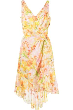 Marchesa Notte Floral-print midi dress - Multicolour