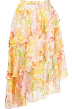 Marchesa Notte Women Printed Skirts - Daffodil print ruffle skirt - Multicolour