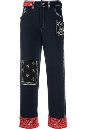 Barrie Women Straight Leg Pants - Cashmere bandana boyfriend-cut trousers