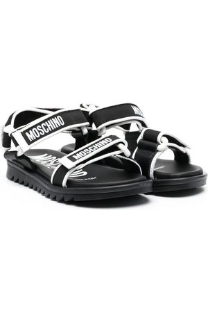 Moschino Boys Sandals - Logo touch-strap sandals