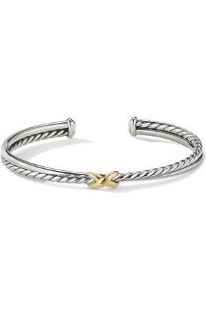 David Yurman 18kt yellow gold X cuff bracelet