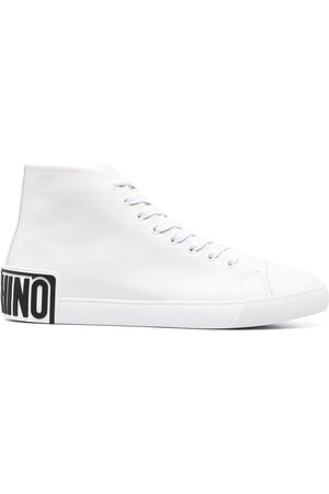 Moschino Logo-patch high-top sneakers
