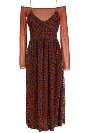 NK Print layered midi dress