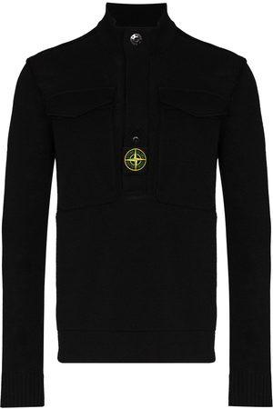 Stone Island Logo-patch high-neck sweatshirt