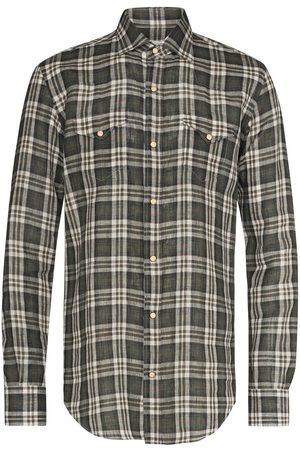 ELEVENTY Check-pattern long-sleeve shirt