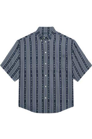Balenciaga Logo-stripe oversized shirt