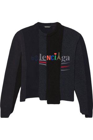 Balenciaga Panelled multi-logo jumper
