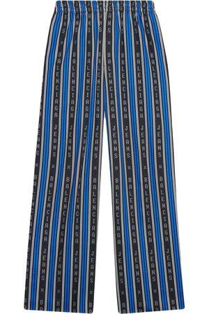 Balenciaga Logo-stripe relaxed trousers
