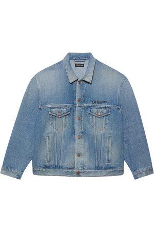 Balenciaga Denim Jackets - Logo-embroidered denim jacket