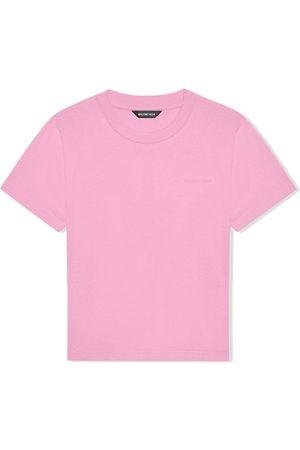 Balenciaga Embroidered-logo T-shirt