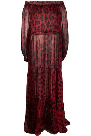 Philipp Plein Leopard-print off-shoulder dress
