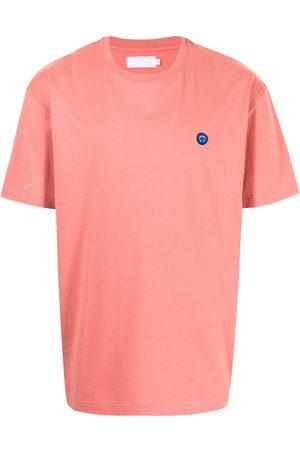 Off-Duty Smiley appliqué detail T-shirt
