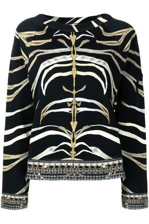 Camilla Raglan-sleeve zebra-print sweatshirt