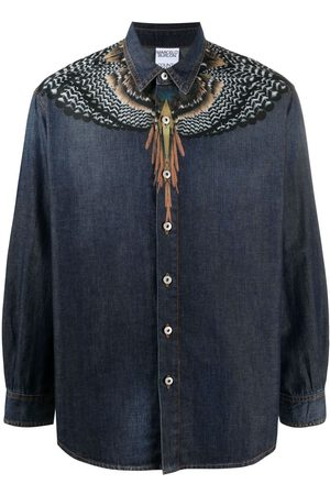 MARCELO BURLON Wings-print denim shirt