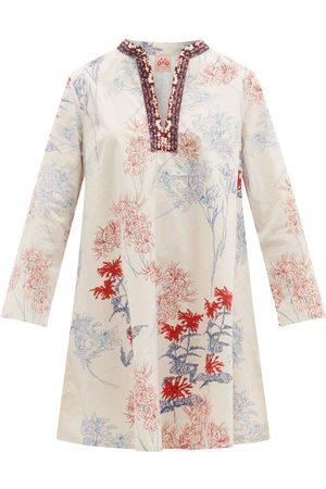 Le Sirenuse, Positano Charlotte Spring Flowers-print Cotton Mini Dress - Womens - Print