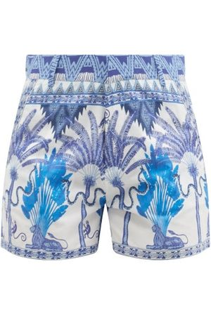 LE SIRENUSE, POSITANO Women Shorts - Winter Garden-print Cotton Shorts - Womens - Print