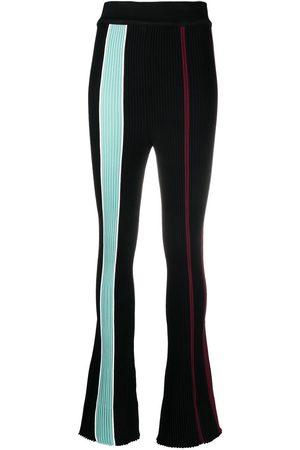 AMBUSH Vertical-stripe ribbed trousers