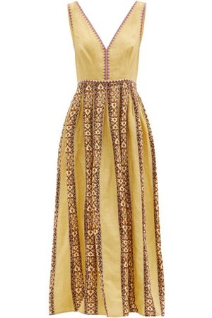 LE SIRENUSE, POSITANO Sofia Hand-embroidered Cotton Maxi Dress - Womens