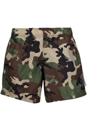 OFF-WHITE Camouflage-print swim shorts