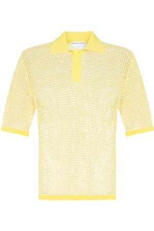 Bottega Veneta Short-sleeve sheer polo shirt