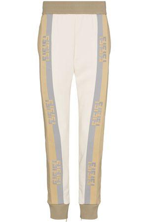 Fendi Logo-tape track pants - Neutrals