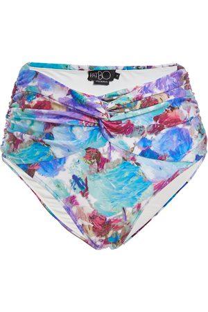 PATBO Blossom ruched bikini bottoms