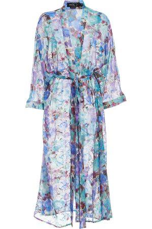 PATBO Blossom-print beach robe