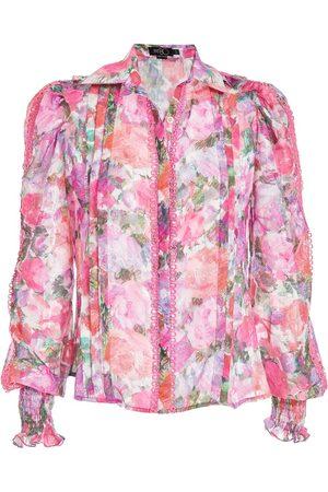 PATBO Women Blouses - Blossom button-front blouse