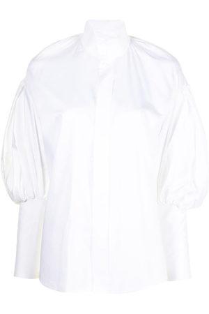 DICE KAYEK High-neck poet sleeve shirt