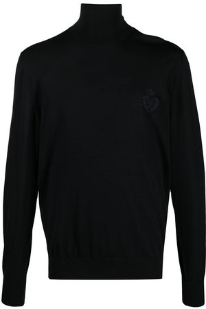 Dolce & Gabbana Embroidered logo roll-neck jumper