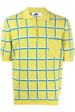 Anglozine Check-print short-sleeved polo shirt