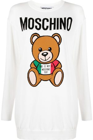 Moschino Teddy-intarsia jumper dress